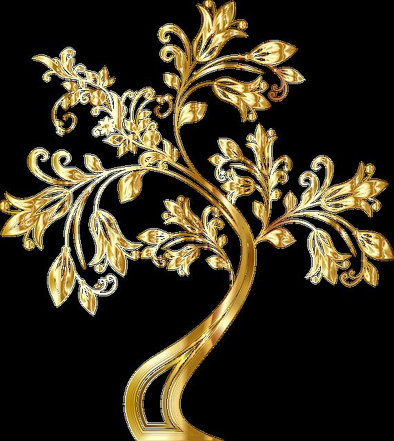 Free photo floral tree. Flourish clipart flower decoration