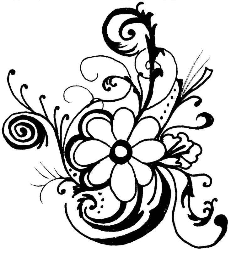 Simple free download best. Flourish clipart flower