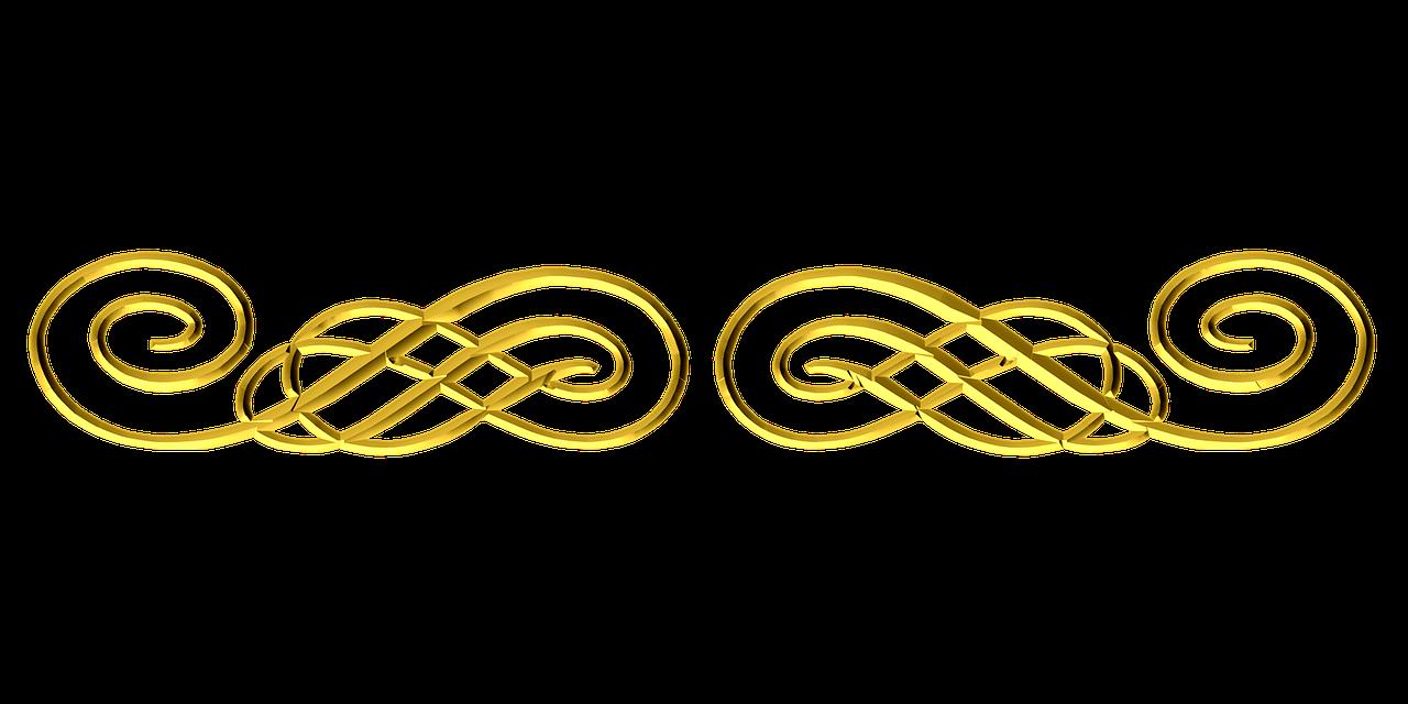 Ornamental flourish border png. Flourishes clipart gold