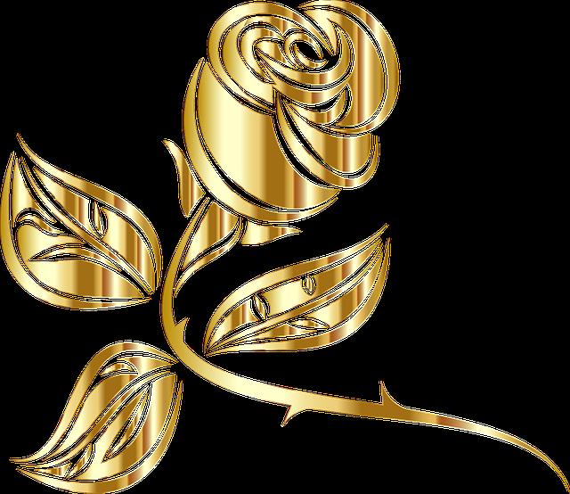 Flourishes clipart gold. Free photo decorative metallic