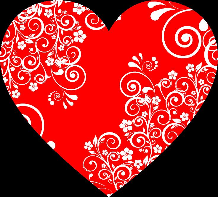 Flourish clipart heart. Floral medium image png