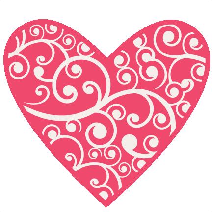 Flourish svg scrapbook cut. Flourishes clipart heart