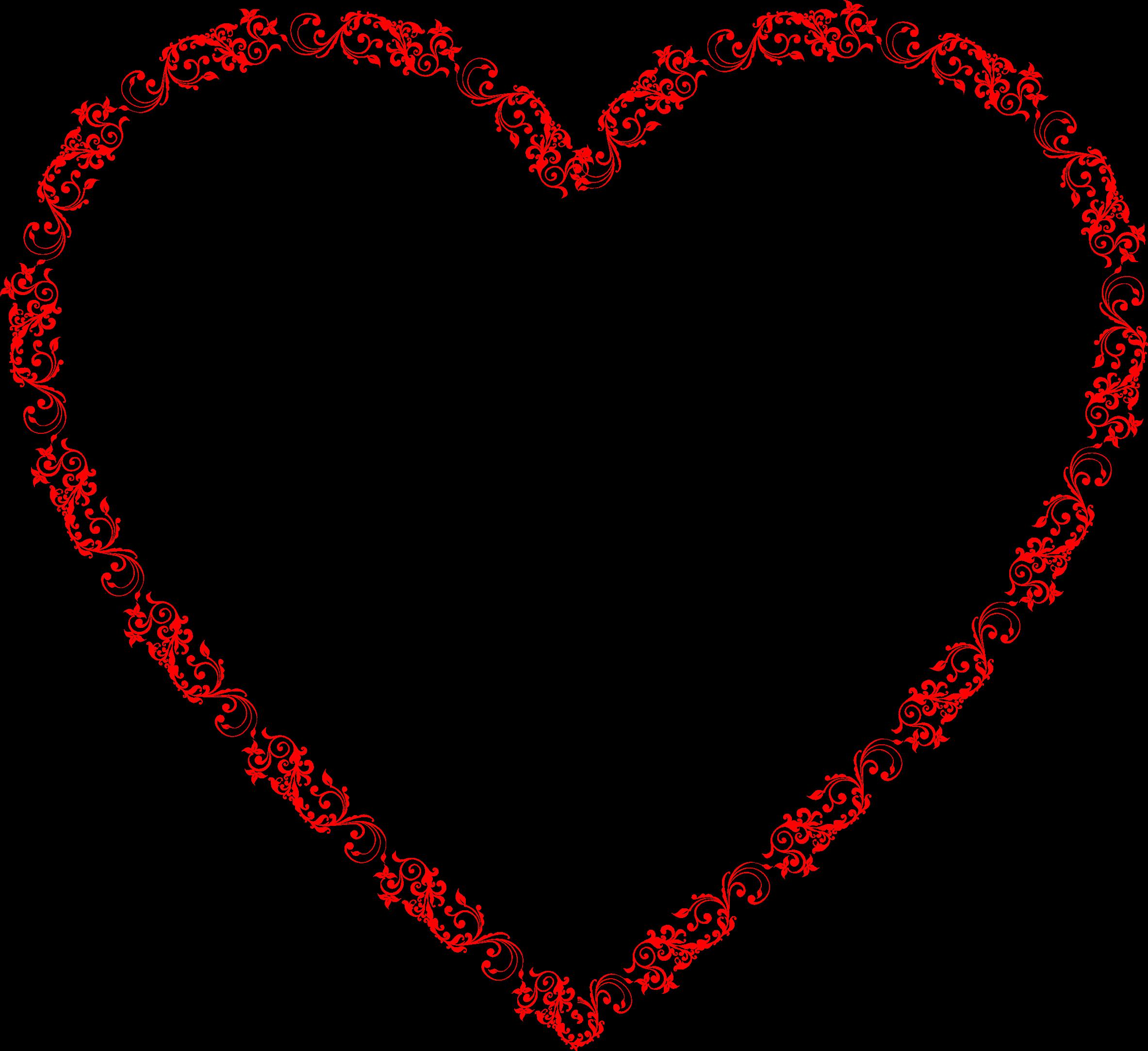 Big image png. Flourish clipart heart