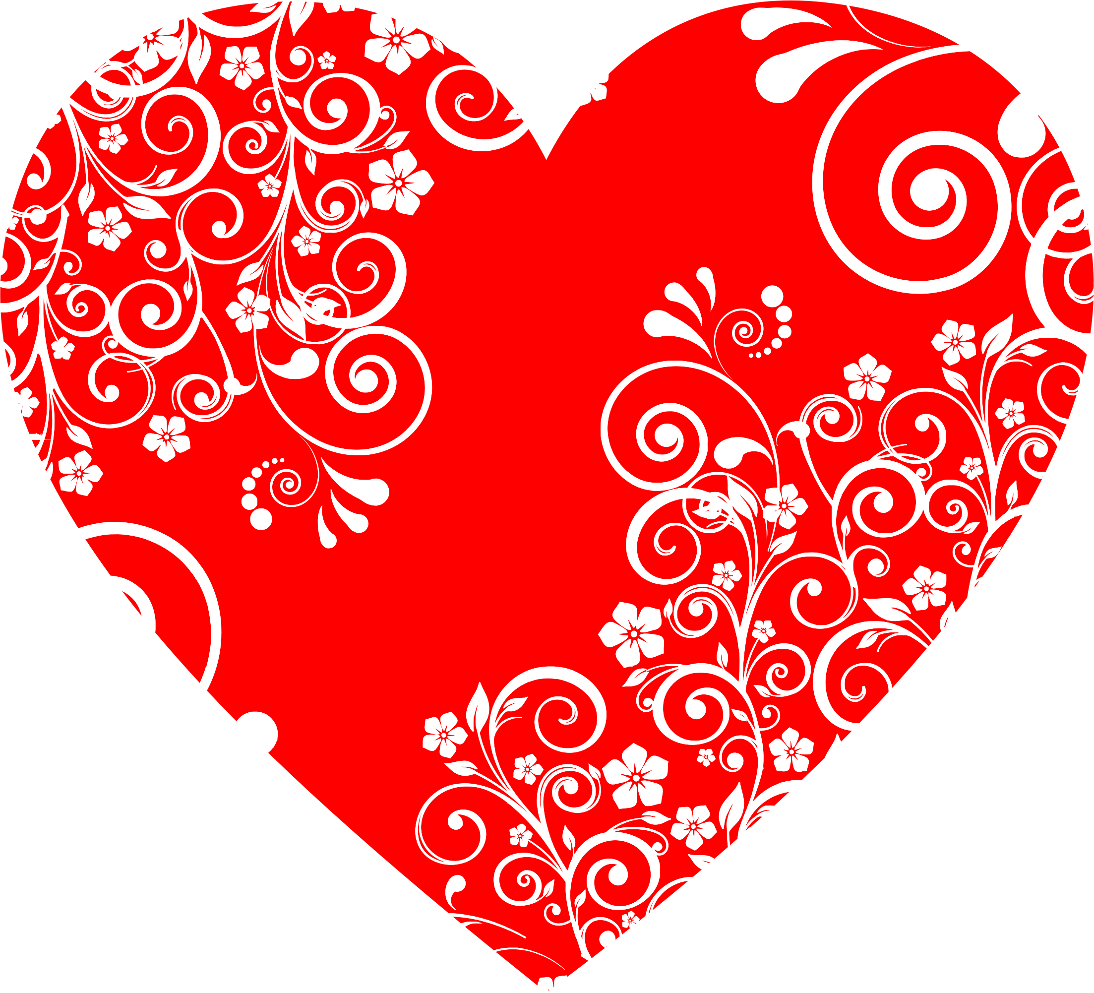 Floral big image png. Flourish clipart heart