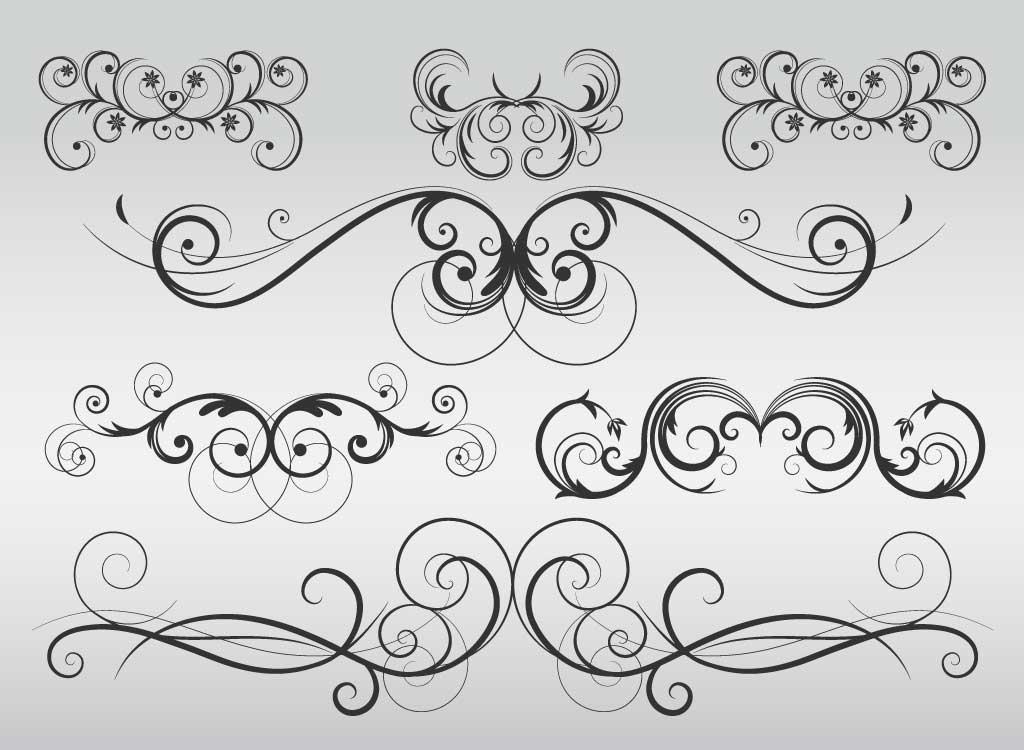 Free vector download clip. Flourish clipart modern
