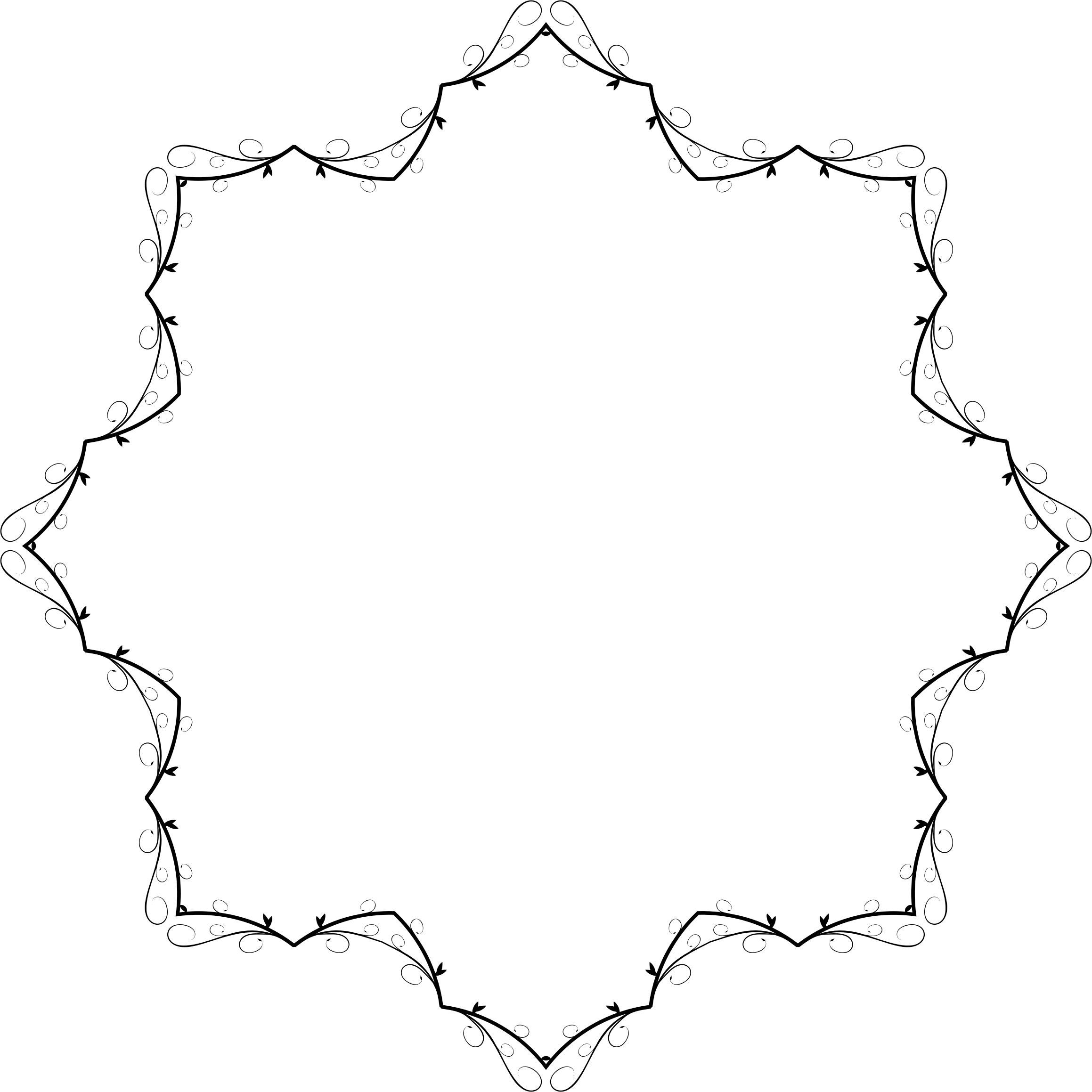Flourish clipart orange line. Art banner extrapolated icons