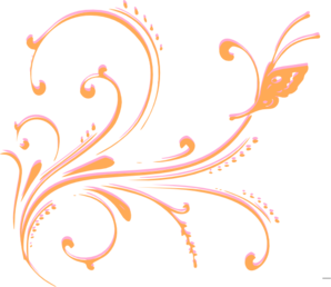 Flourish clipart orange line. Pink and clip art