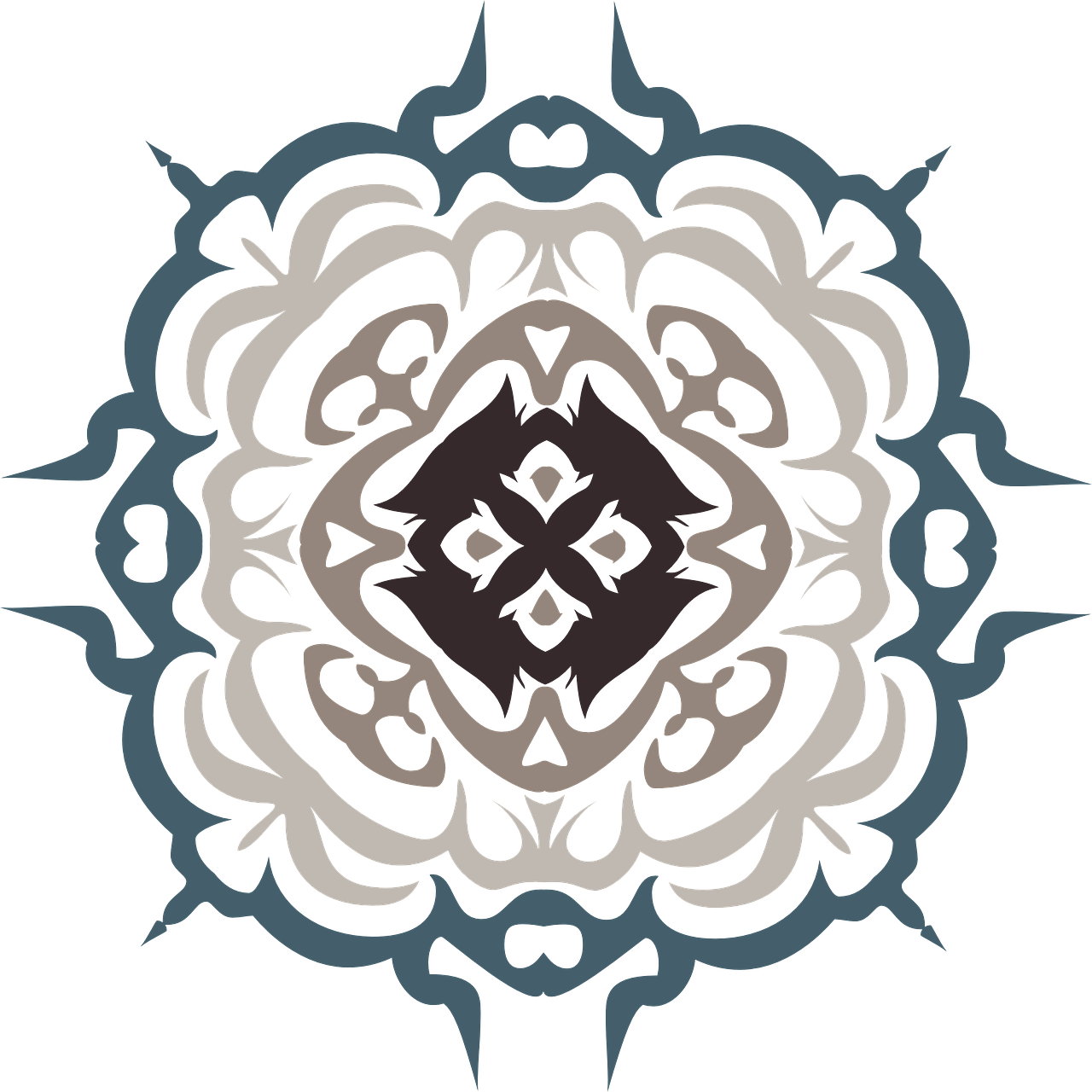 Flourish clipart red damask. Decorative ornate transparent image