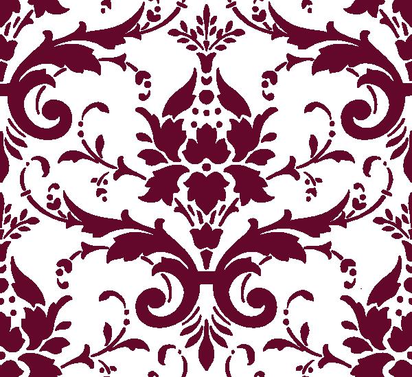 Flourish clipart red damask. Clip art vector online