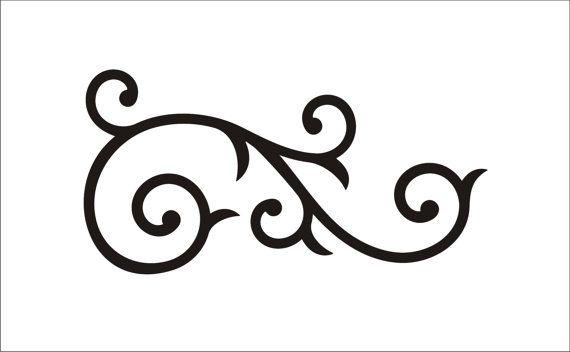 Flourishes clipart scrollwork. Free scroll flourish cliparts