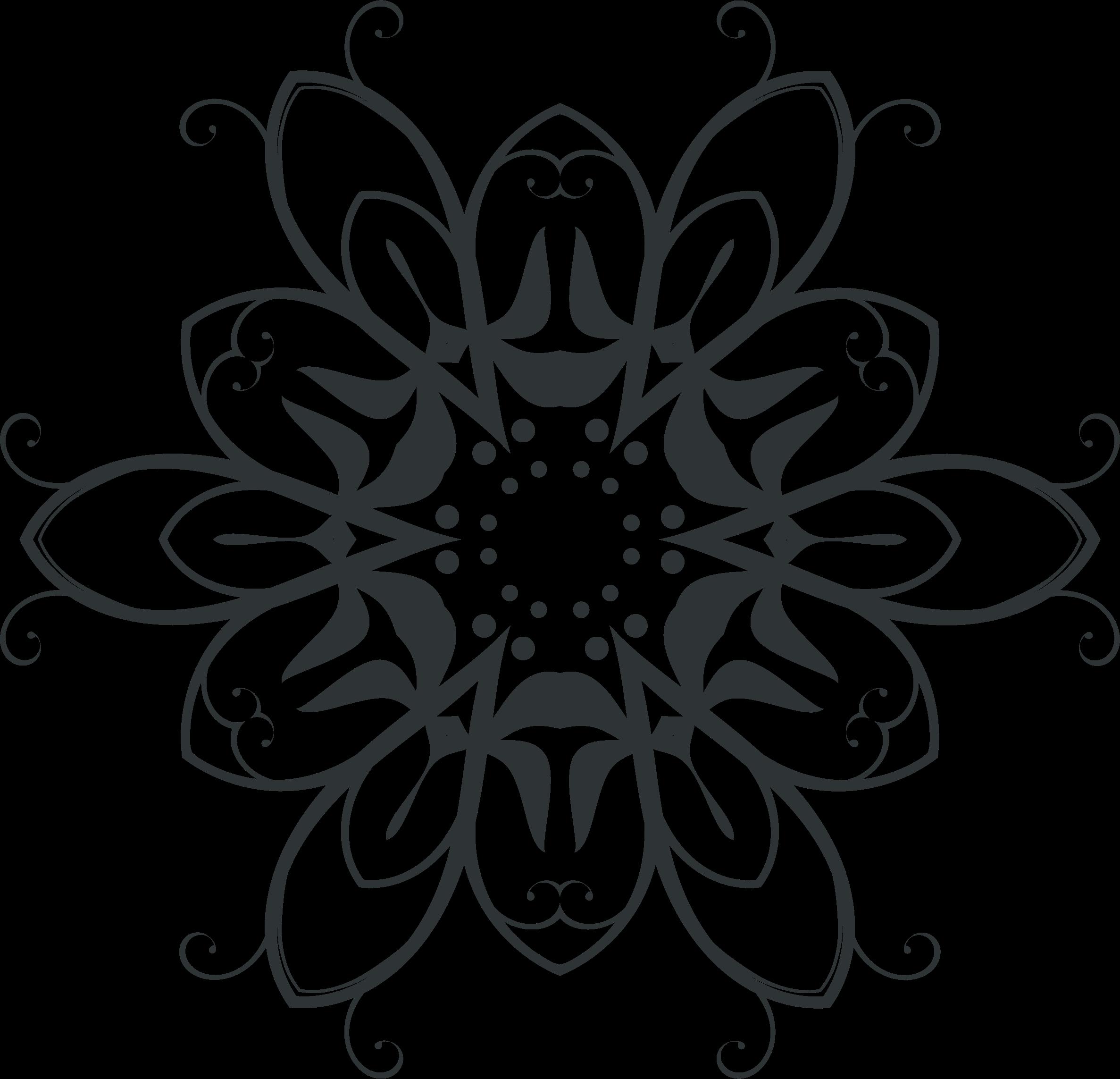 Lace clipart mehandi design. Silhouette flourish by gdj