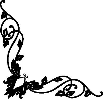 Flourish clipart side. Free corner download clip