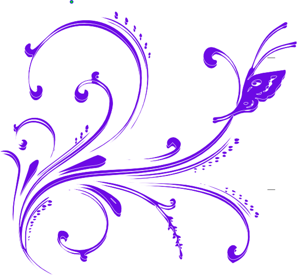 Purple butterfly clip art. Flourish clipart small
