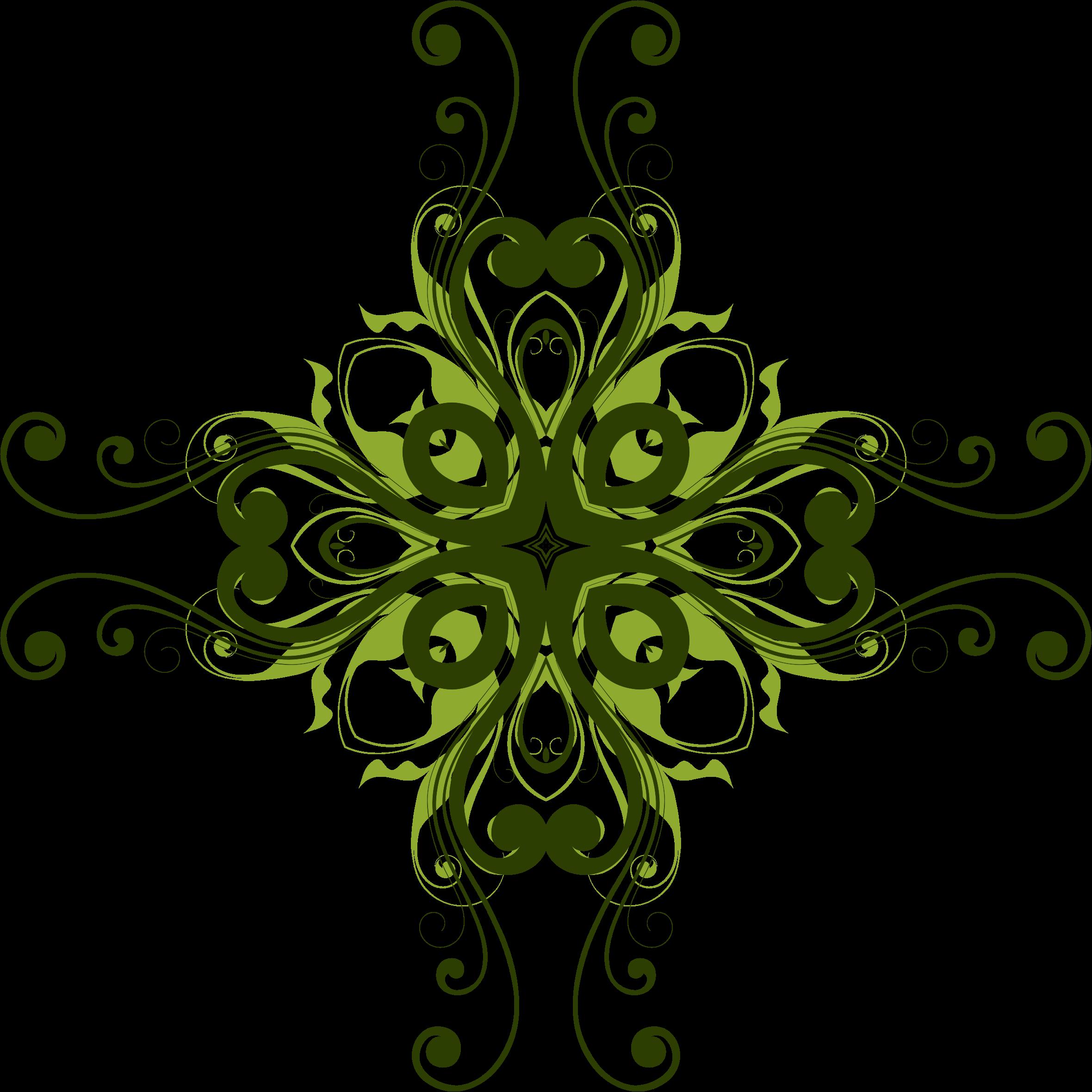 Flower design big image. Flourish clipart small