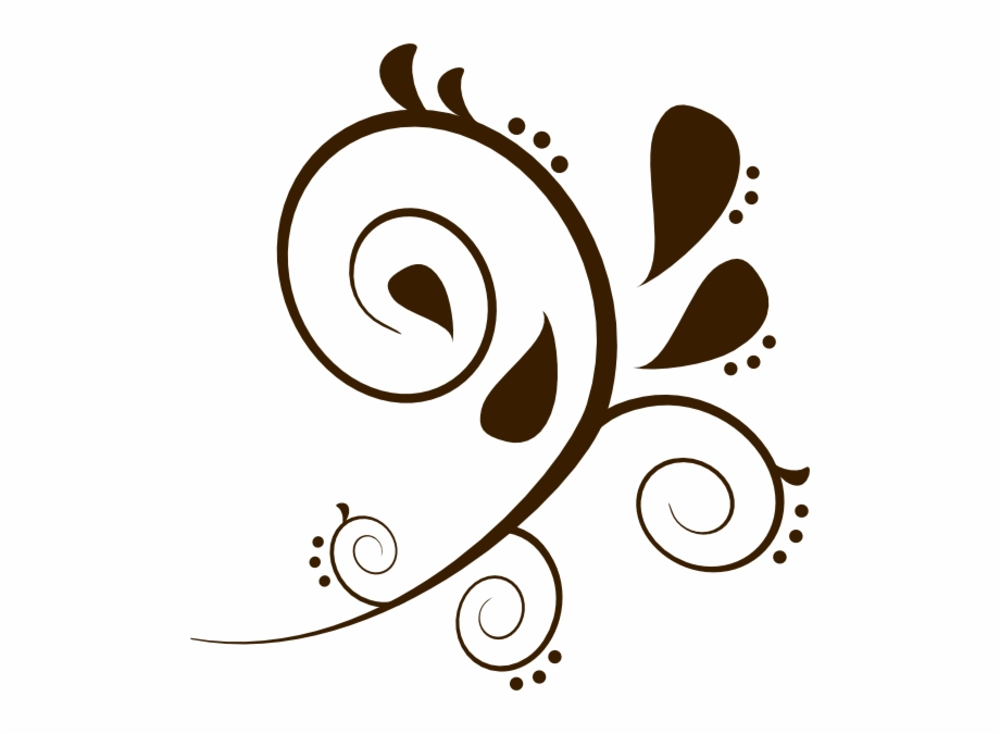 Svg freeuse library brown. Flourish clipart swirlclip
