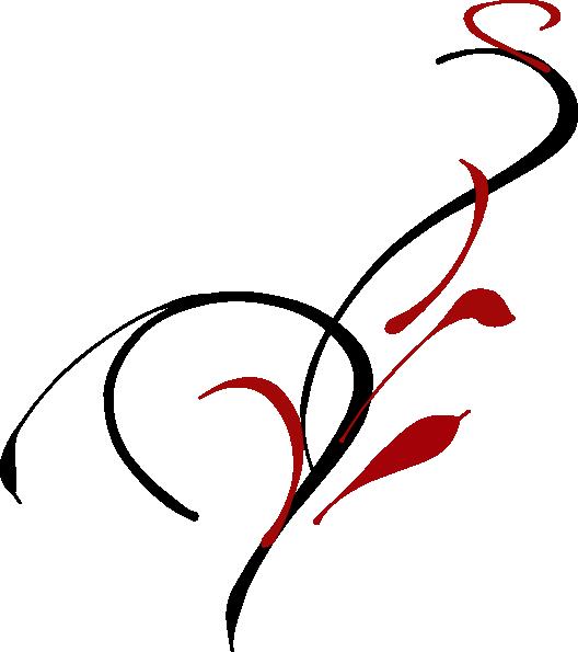 Simple black swirl clip. Flourish clipart swirlclip