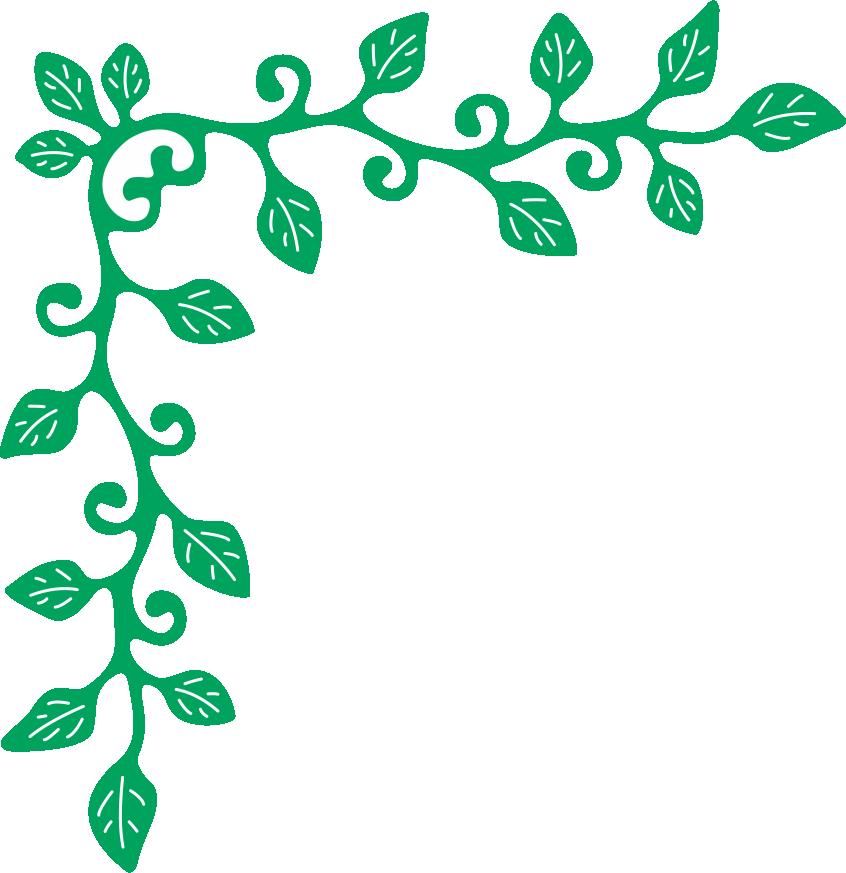 Corner flourish die b. Ivy clipart design