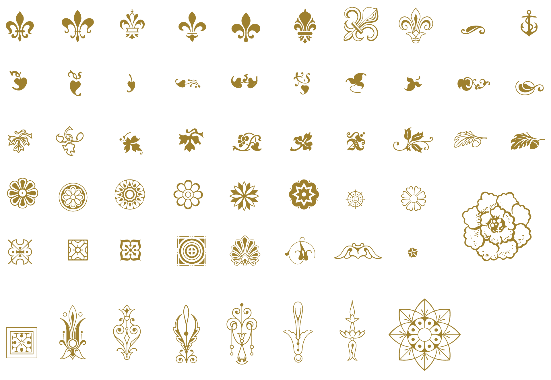 Essential vintage pack ornaments. Frames clipart vector