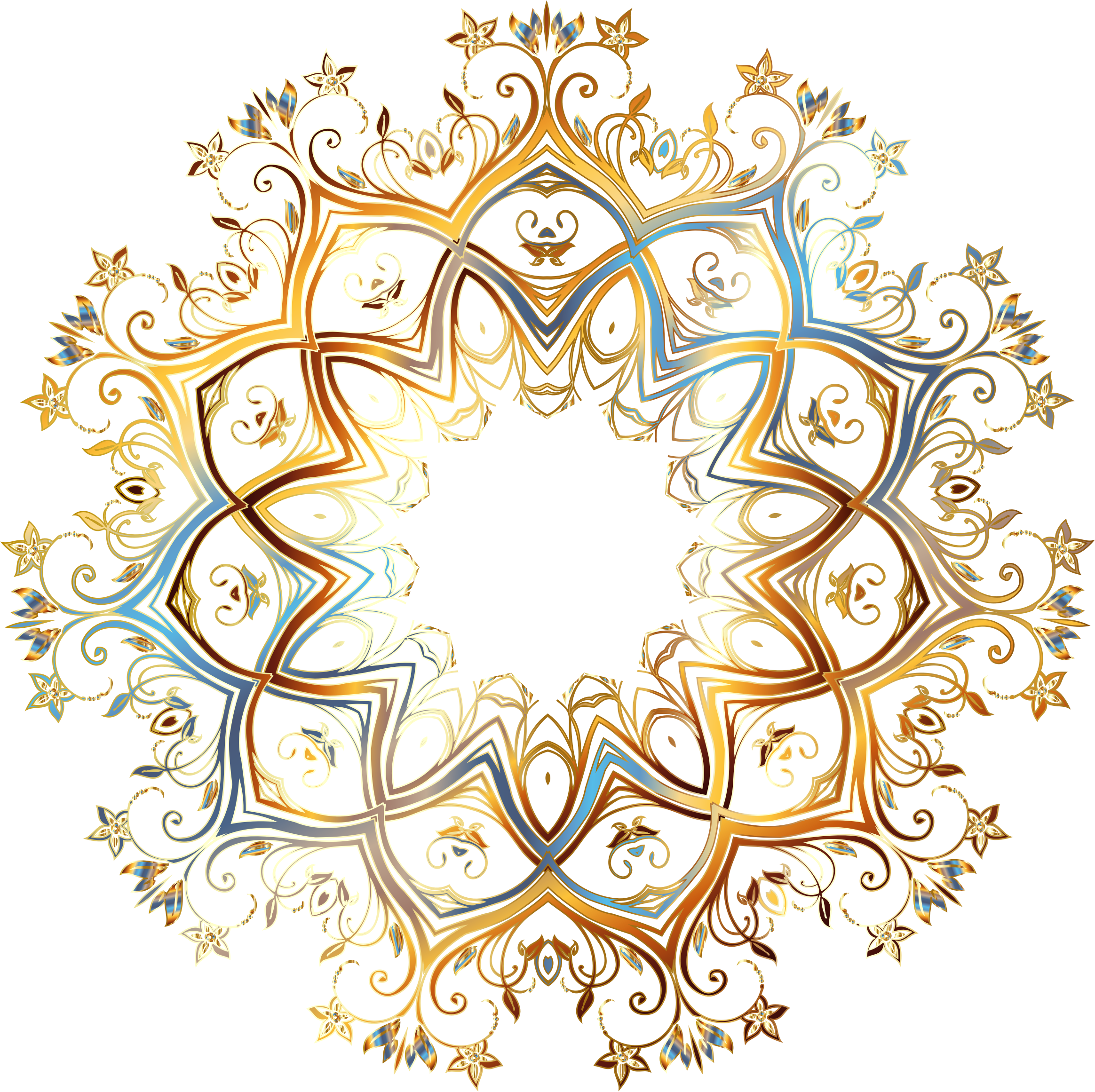 Flourishes clipart gold. Chromatic flourish ornament no