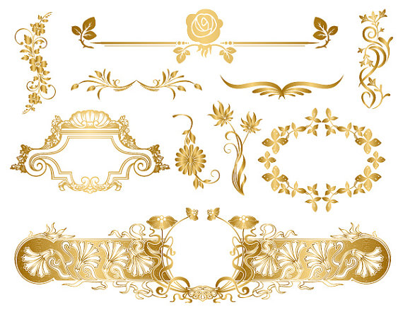 Free flourish cliparts download. Flourishes clipart gold