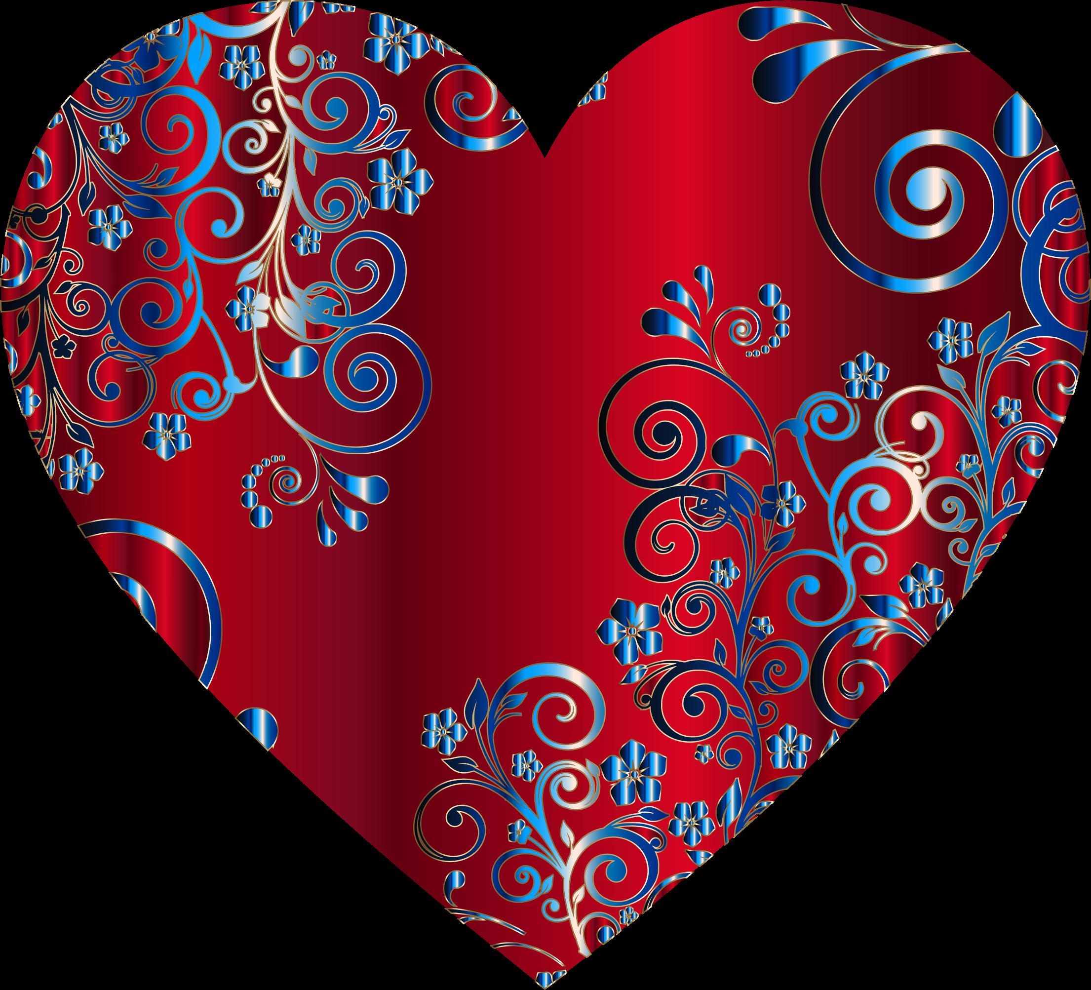 Flourishes clipart heart. Prismatic floral flourish icons