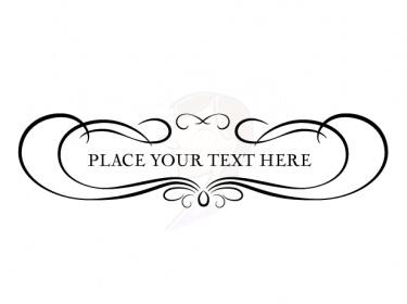 Flourishes clipart logo. Free scroll flourish cliparts