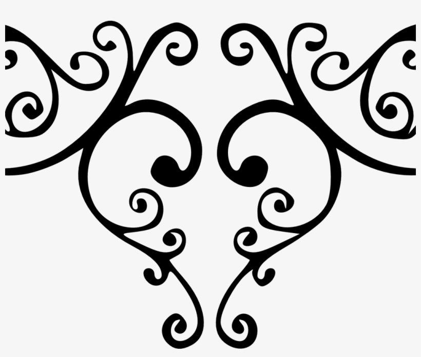 Flourishes clipart pretty line. Underlines fancy lines clip