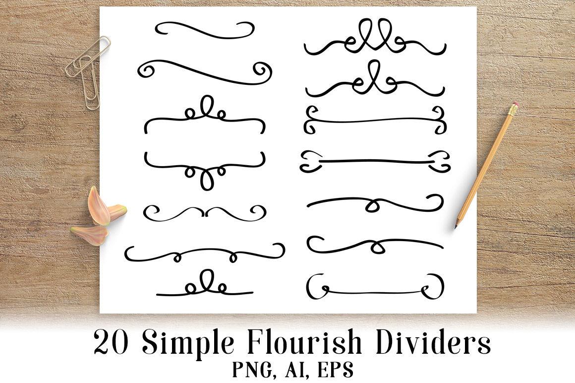 simple flourish dividers. Flourishes clipart pretty line