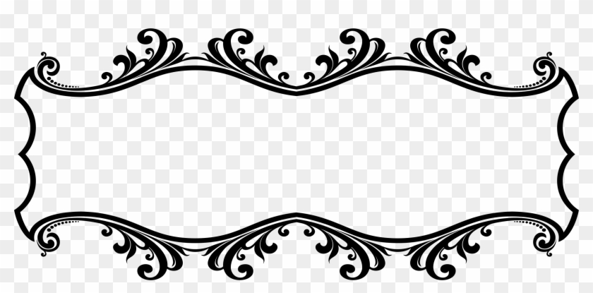 Flourishes clipart side. Ornamental flourish frame aggrandized