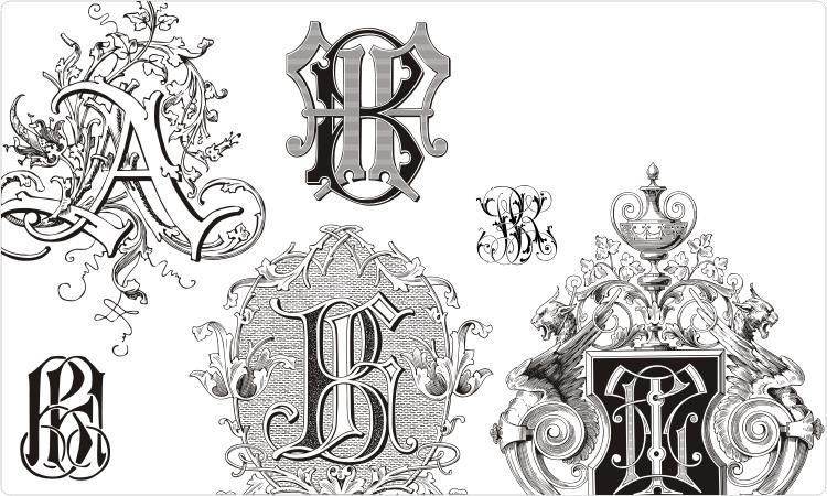 Free monogram clip art. Warrior clipart lettering
