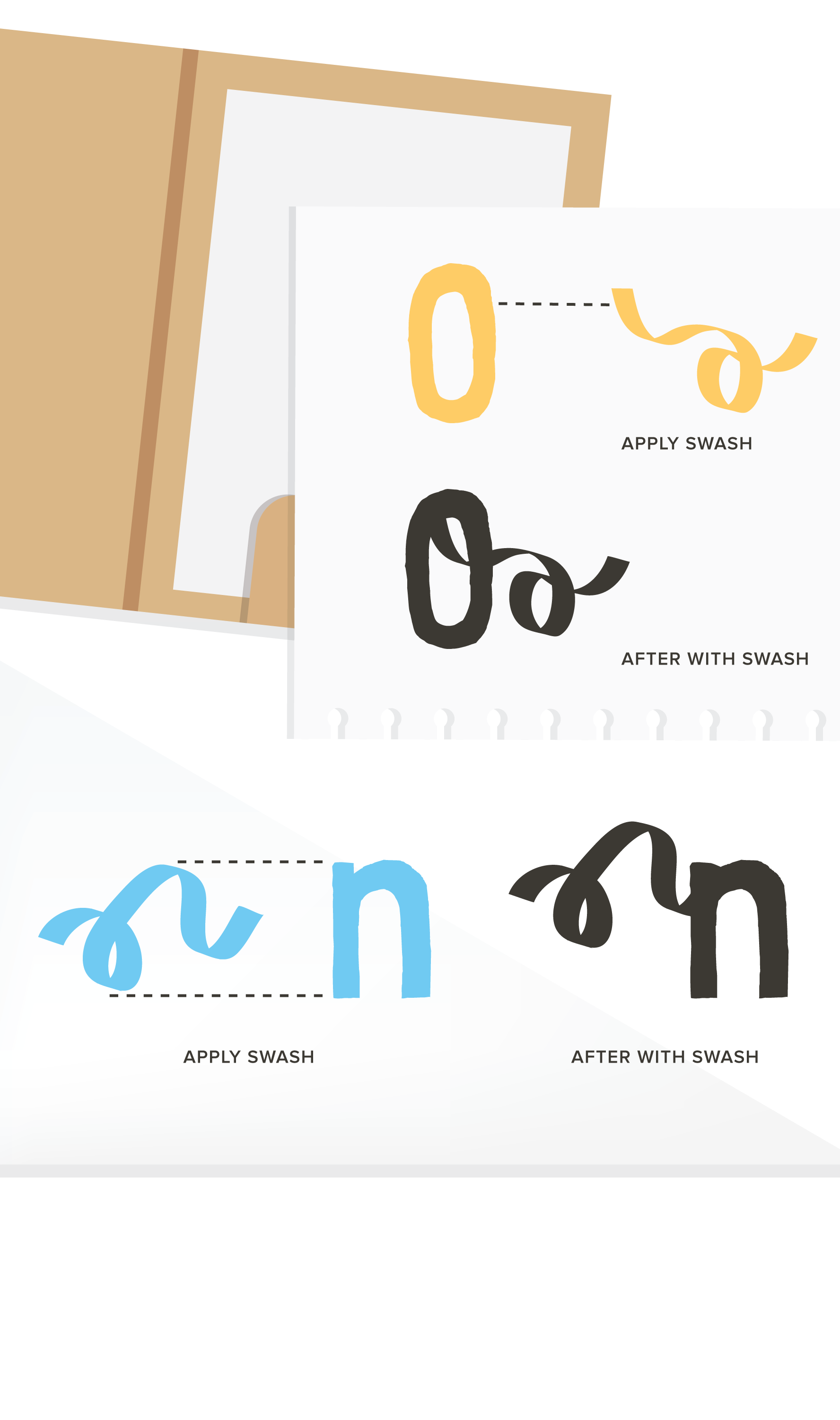 Flourishes clipart swash. The collection on behance