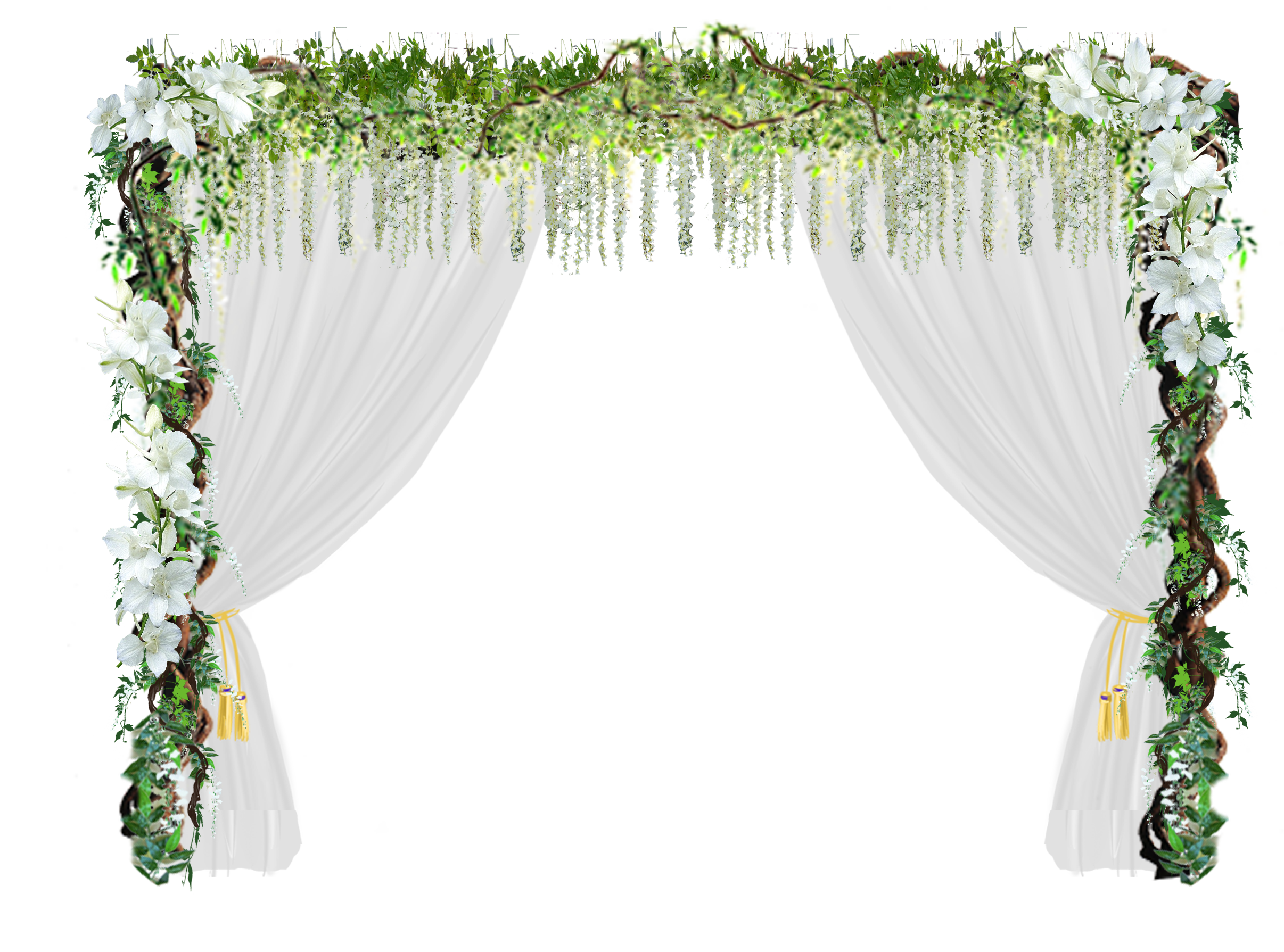 Door wedding romantic love. Flower arch png