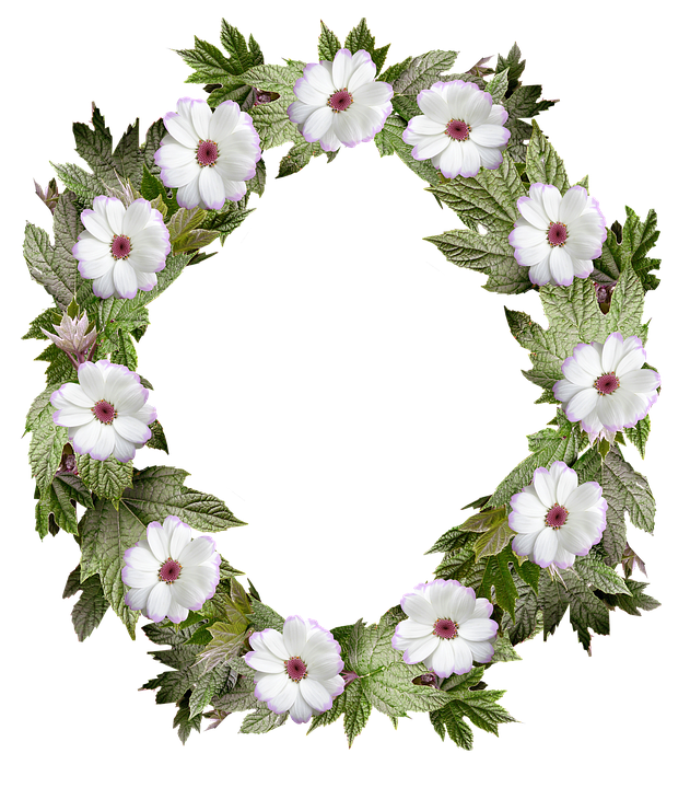 Flower arch png. Free photo border wreath