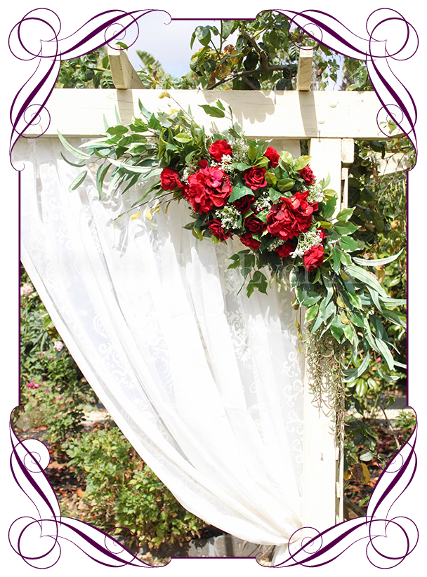 Kristy arbor corner decoration. Flower arch png
