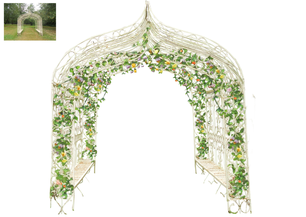 Wedding adapted by virgolinedancer. Flower arch png