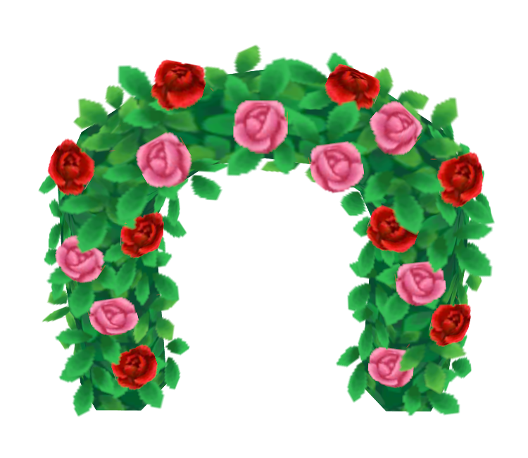 Flower arch png.  ds animal crossing