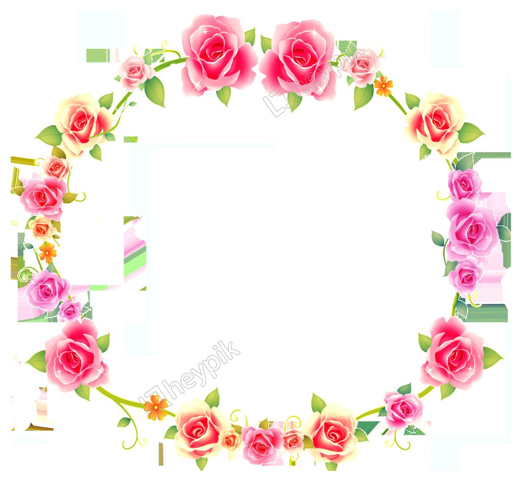 Flower background png. Rosette round transparent border