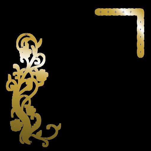 Elegant golden transparent svg. Flower background png