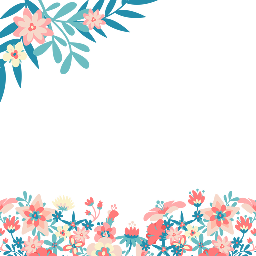 Blue pink flowers transparent. Background images png