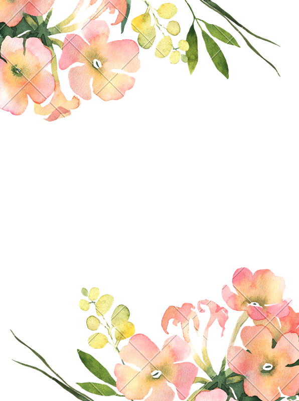 Watercolor illustration for wedding. Flower background png