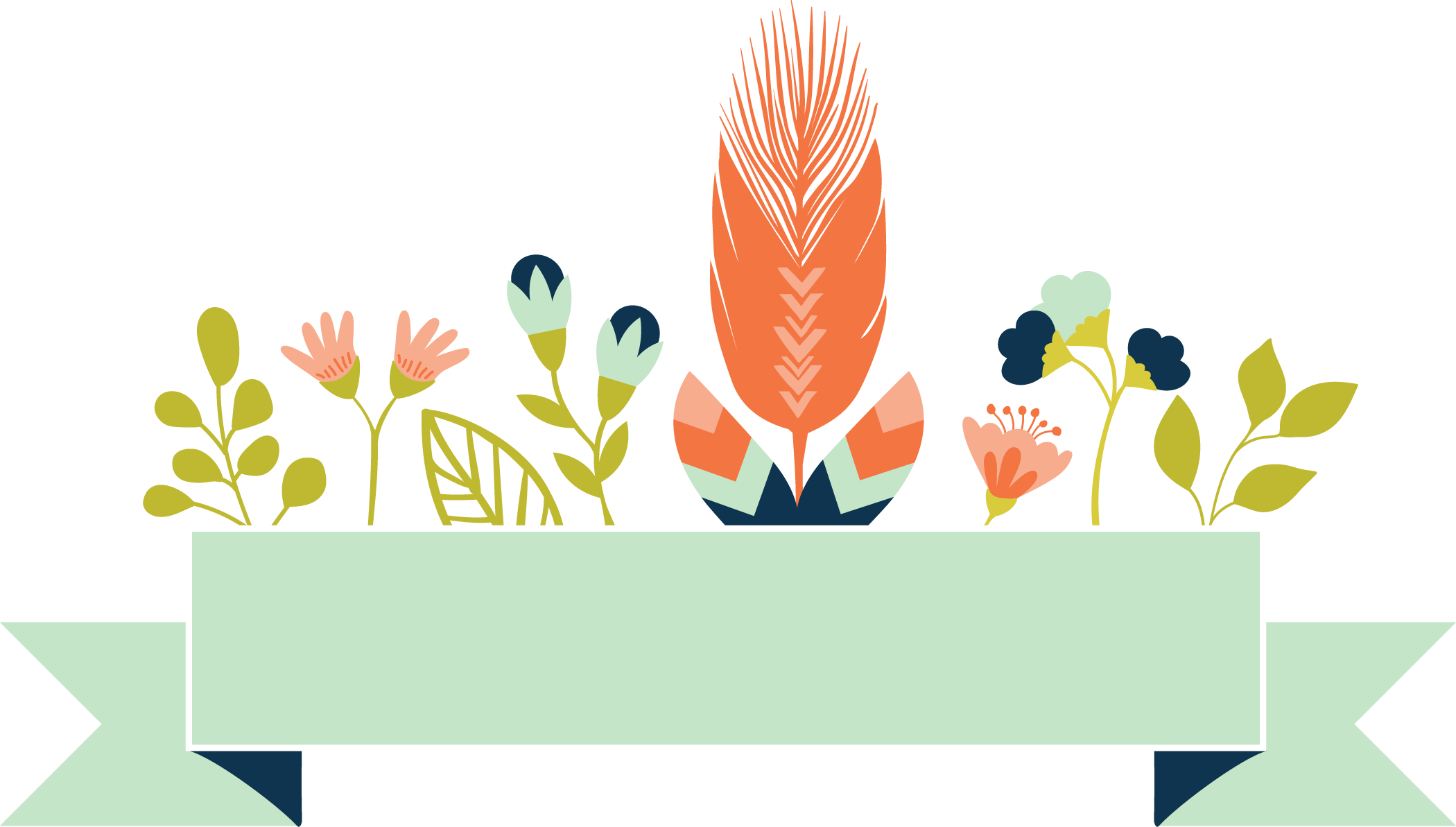 Flower banner png.  for free download