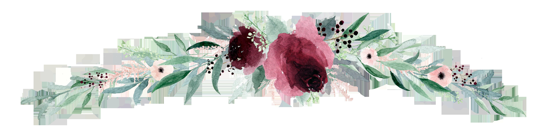 Flower banner png. Wedding invitation paper transprent