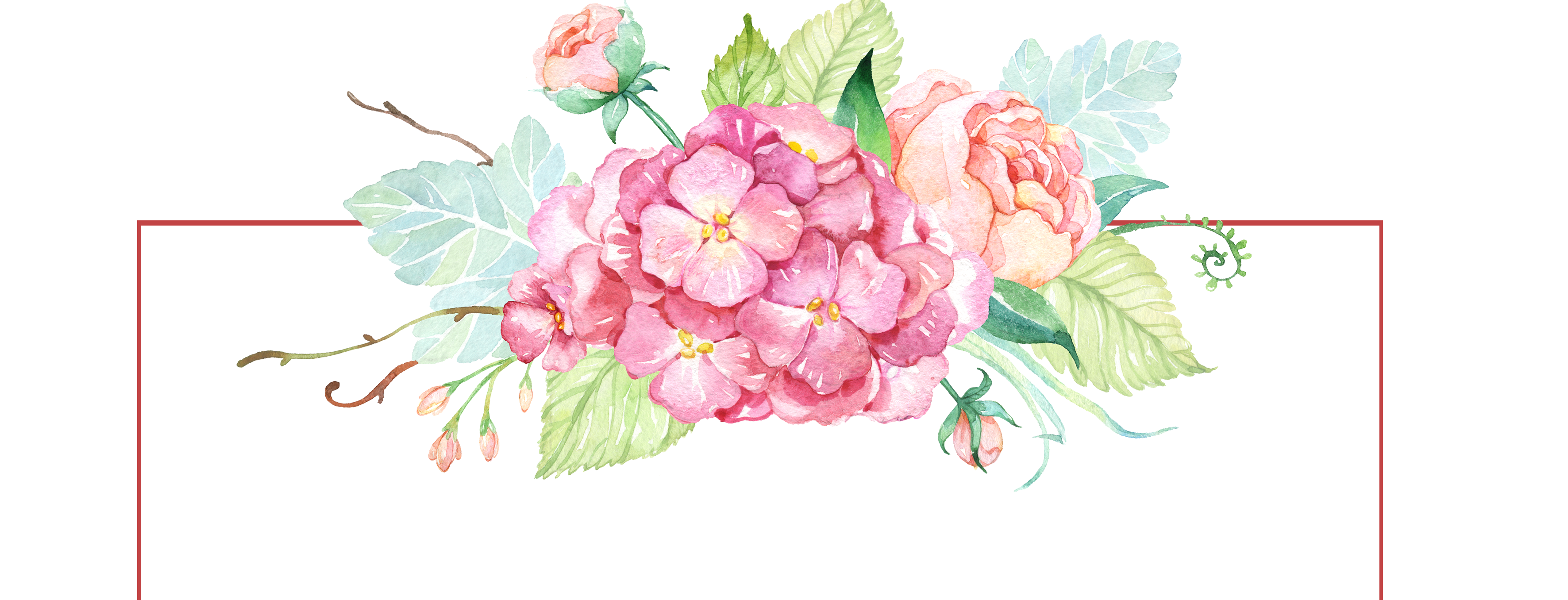 Flower banner png. Free watercolor with flowers