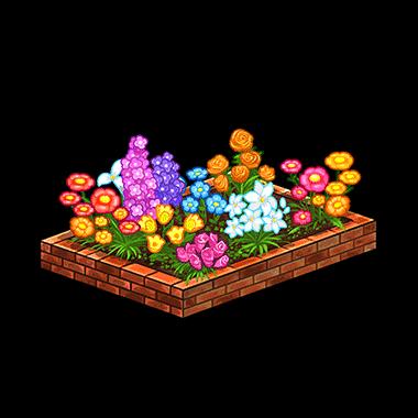 Flower bed png. Image furniture render unison