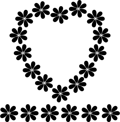Flower black and white png.  flowers library download