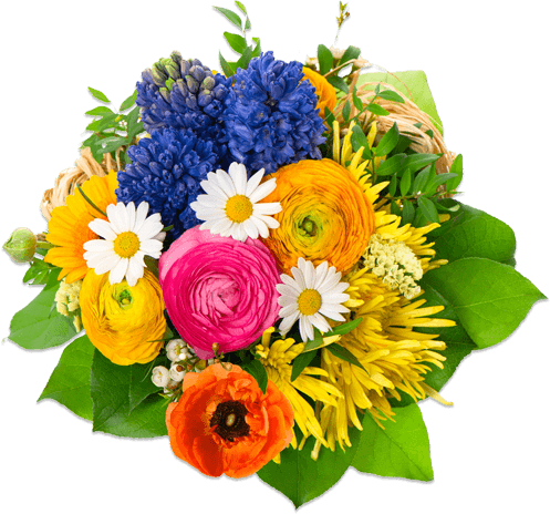 Flowers round transparent stickpng. Flower bouquet png