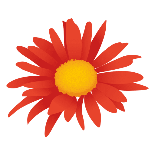 Flower cartoon png. Orange transparent svg vector