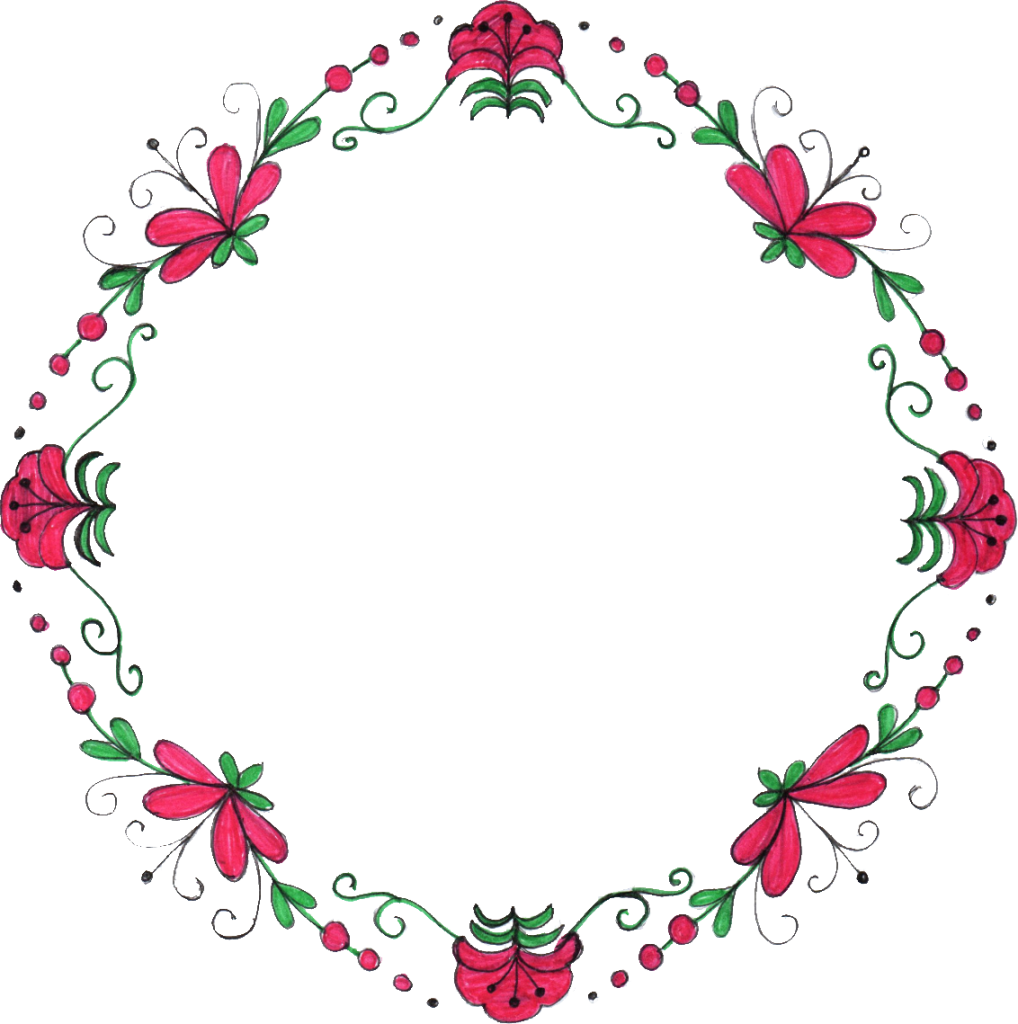 Flower circle png.  drawing frame transparent