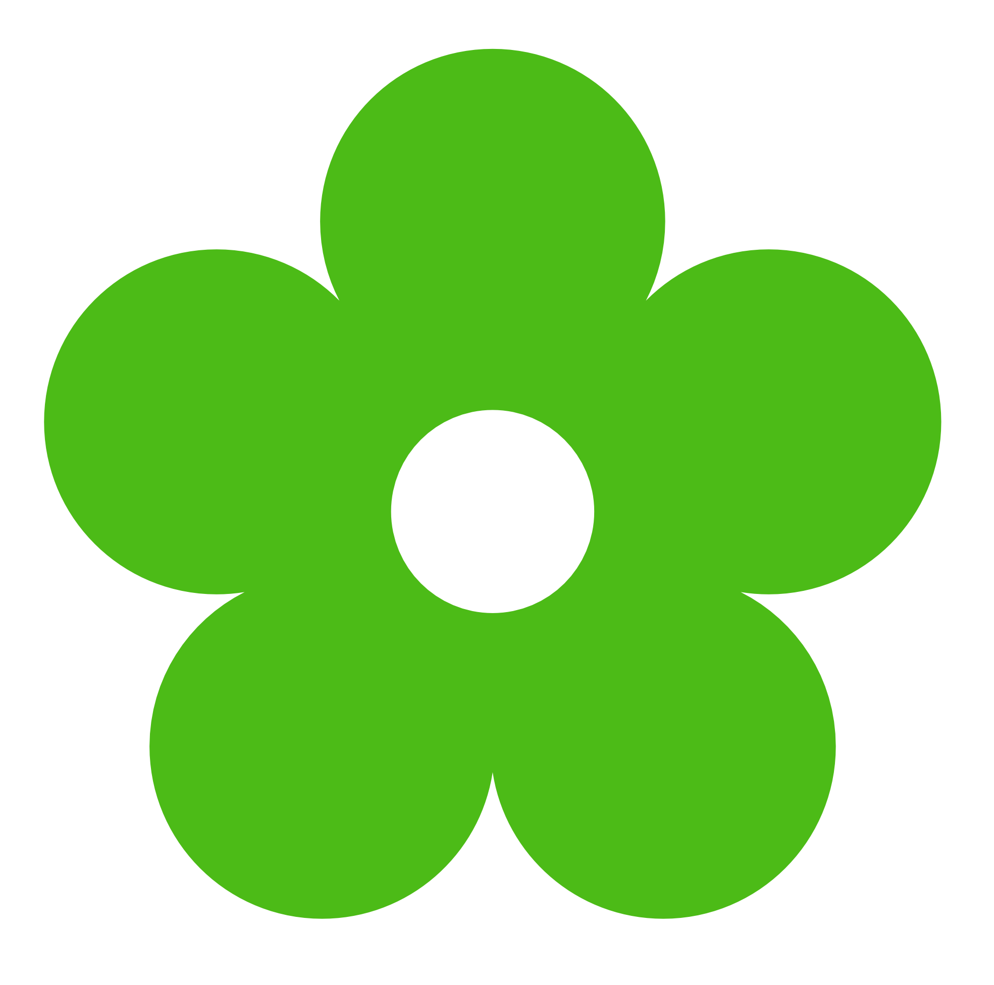 Green . Flower clipart