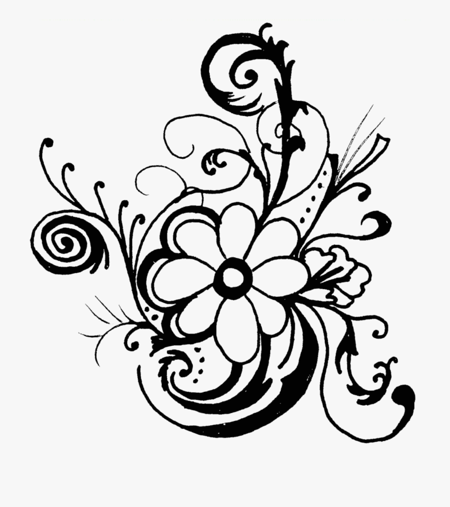 Flower clipart art. Floral free images flowers